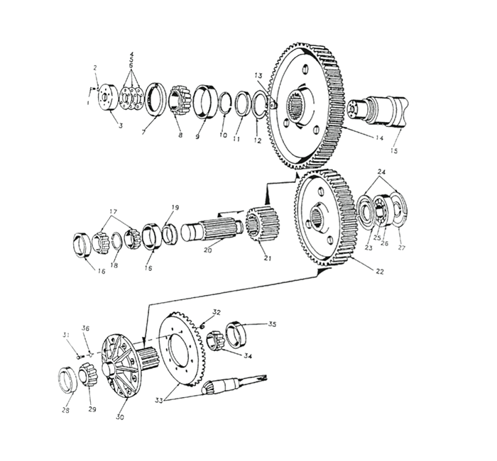 REX MODEL 770 Internal Gears, Shafts, Bearings and Seals